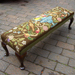 Foot Stool With Tapestry